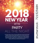 happy new 2018 year party... | Shutterstock .eps vector #721525684