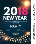 happy new 2018 year party... | Shutterstock .eps vector #721525690