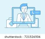 vector illustration in linear...   Shutterstock .eps vector #721526506