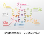 vector puzzle infographic... | Shutterstock .eps vector #721528960