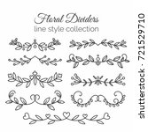 flourishes. hand drawn dividers ... | Shutterstock . vector #721529710