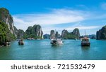 tourist ferry boat in halong... | Shutterstock . vector #721532479