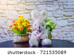 rabbit and little rabbit dolls... | Shutterstock . vector #721535089