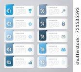 infographic template blue 10...   Shutterstock .eps vector #721535593