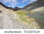 beautiful remote tajik national ... | Shutterstock . vector #721537114