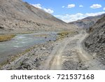 beautiful remote tajik national ... | Shutterstock . vector #721537168