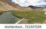 beautiful remote tajik national ... | Shutterstock . vector #721537234