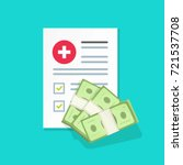 medical document with money... | Shutterstock .eps vector #721537708