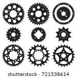 vector set of bike chainrings... | Shutterstock .eps vector #721538614