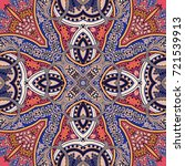 traditional oriental ethnic... | Shutterstock . vector #721539913