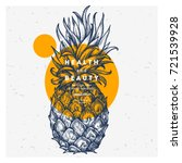 fresh pineapple design template.... | Shutterstock .eps vector #721539928