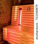 the infrared sauna to improve... | Shutterstock . vector #721540879