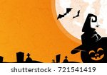 halloween background with... | Shutterstock .eps vector #721541419