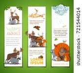 vector vertical animal banners... | Shutterstock .eps vector #721544014