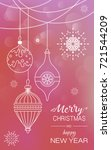 poster with christmas... | Shutterstock .eps vector #721544209