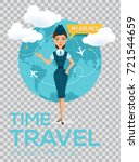 travel around the world vector... | Shutterstock .eps vector #721544659