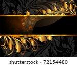 vintage dark golden card with... | Shutterstock .eps vector #72154480