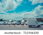 vintage tone blur image of car... | Shutterstock . vector #721546330