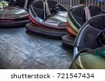 colorful electric bumper cars... | Shutterstock . vector #721547434