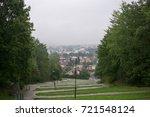 rainy day in the park. slovakia | Shutterstock . vector #721548124