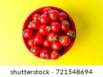 bunch of cherry tomatoes in a... | Shutterstock . vector #721548694