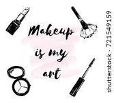 """poster with inscription """"makeup ... 