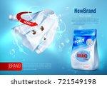 laundry detergent ad poster... | Shutterstock .eps vector #721549198