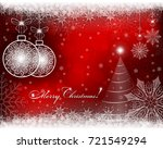 christmas red  bright... | Shutterstock .eps vector #721549294
