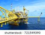 offshore construction platform... | Shutterstock . vector #721549390
