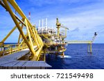 offshore construction platform... | Shutterstock . vector #721549498