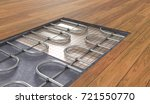 underfloor heating system under ... | Shutterstock . vector #721550770