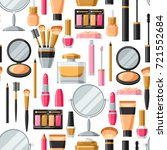 cosmetics for skincare and... | Shutterstock .eps vector #721552684