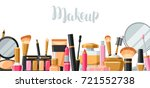 cosmetics for skincare and... | Shutterstock .eps vector #721552738