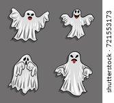 halloween ghosts holiday horror ...   Shutterstock .eps vector #721553173