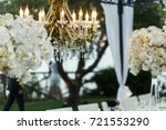 Chandelier With Flowers And...