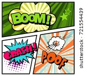 pop art comic template vector. | Shutterstock .eps vector #721554439