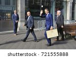 Small photo of The Hague, The Netherlands - September 19, 2017: Minister of Finance Jeroen Dijsselbloem, during Prinsjesdag, the opening of the new parliamentary year holding the briefcase with the government budget