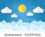 origami made mobile paper sun... | Shutterstock .eps vector #721557610