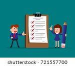 happy people. business team and ... | Shutterstock .eps vector #721557700