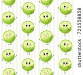 cabbage  vector seamless... | Shutterstock .eps vector #721558858