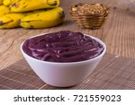 acai with banana and granola... | Shutterstock . vector #721559023