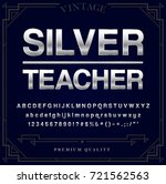 silver or chrome metallic font... | Shutterstock .eps vector #721562563