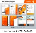 set of business cover design... | Shutterstock .eps vector #721562608
