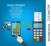 mobile payments and near field...   Shutterstock .eps vector #721566739