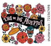 day of the dead vector... | Shutterstock .eps vector #721567498