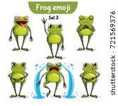 vector set of cute ffrog... | Shutterstock .eps vector #721569376