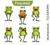 vector set of cute frog... | Shutterstock .eps vector #721569394