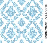 damask vector classic black and ... | Shutterstock .eps vector #721570348