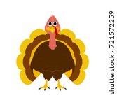 turkey pilgrimin on... | Shutterstock .eps vector #721572259