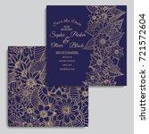 wedding invitation card suite...   Shutterstock .eps vector #721572604